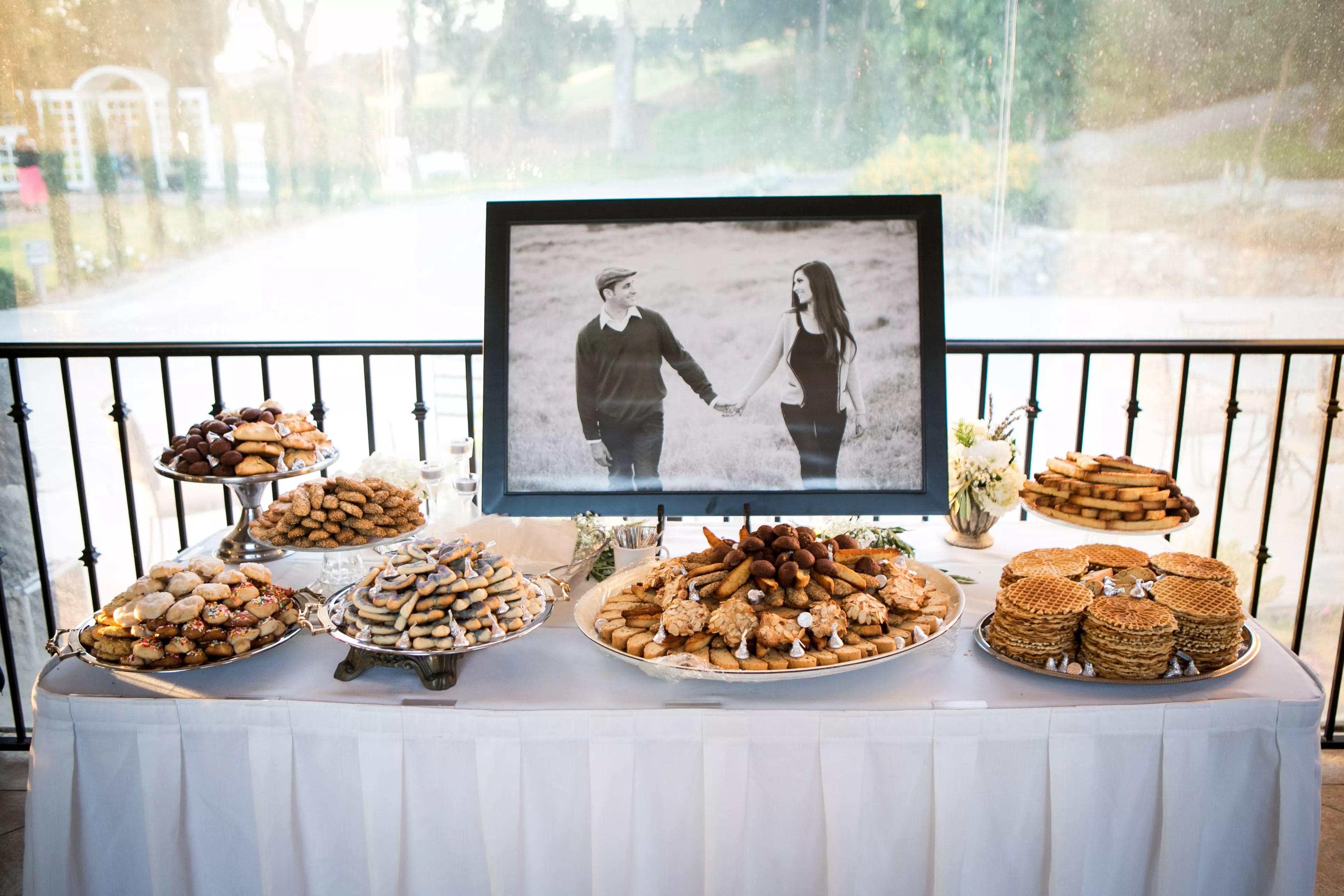 Italian Wedding Cookie Bar And Dessert Table