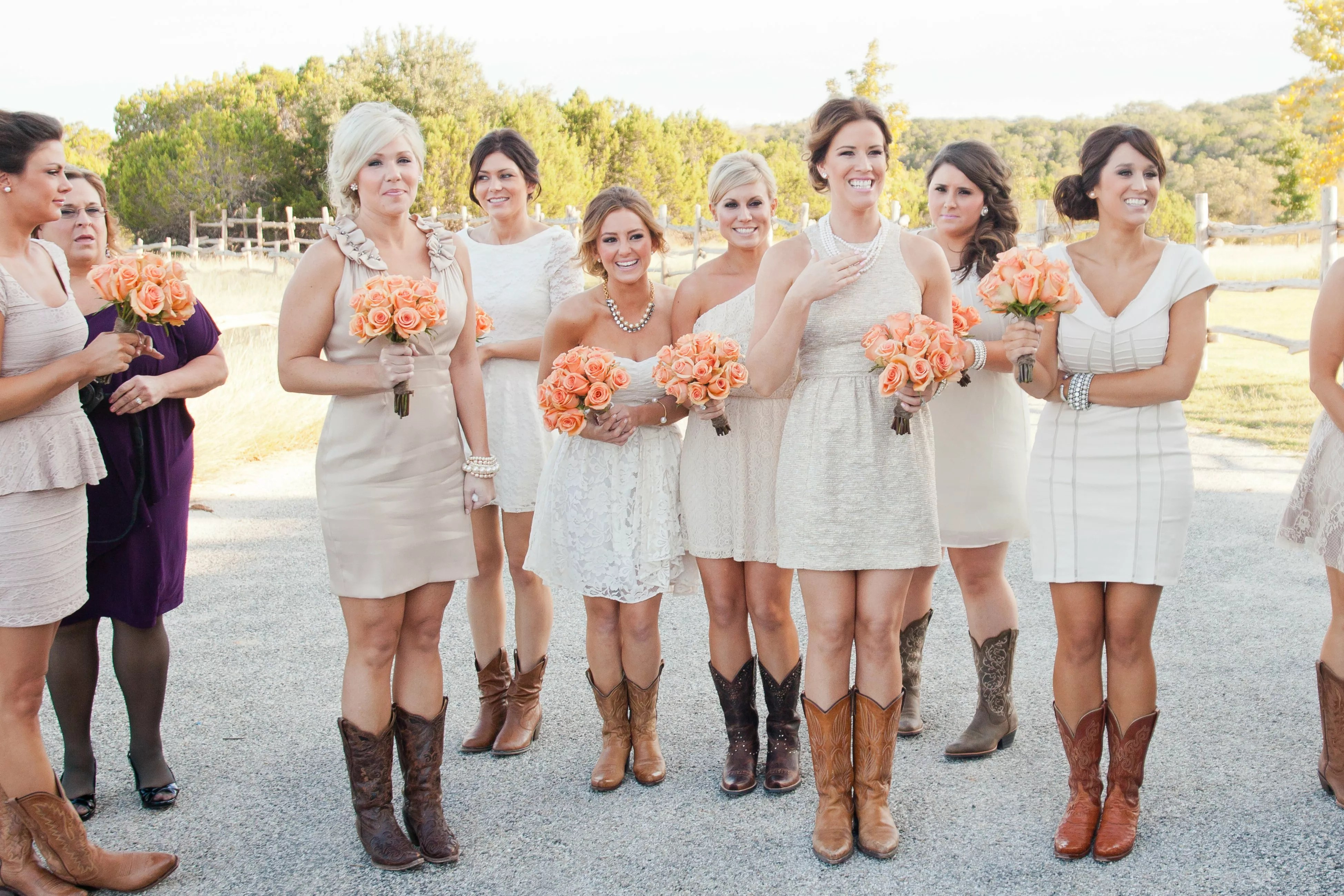 wedding guest dress with cowboy boots wedding cowboy boots Bridesmaid Wedding Guest Dress With Cowboy Boots