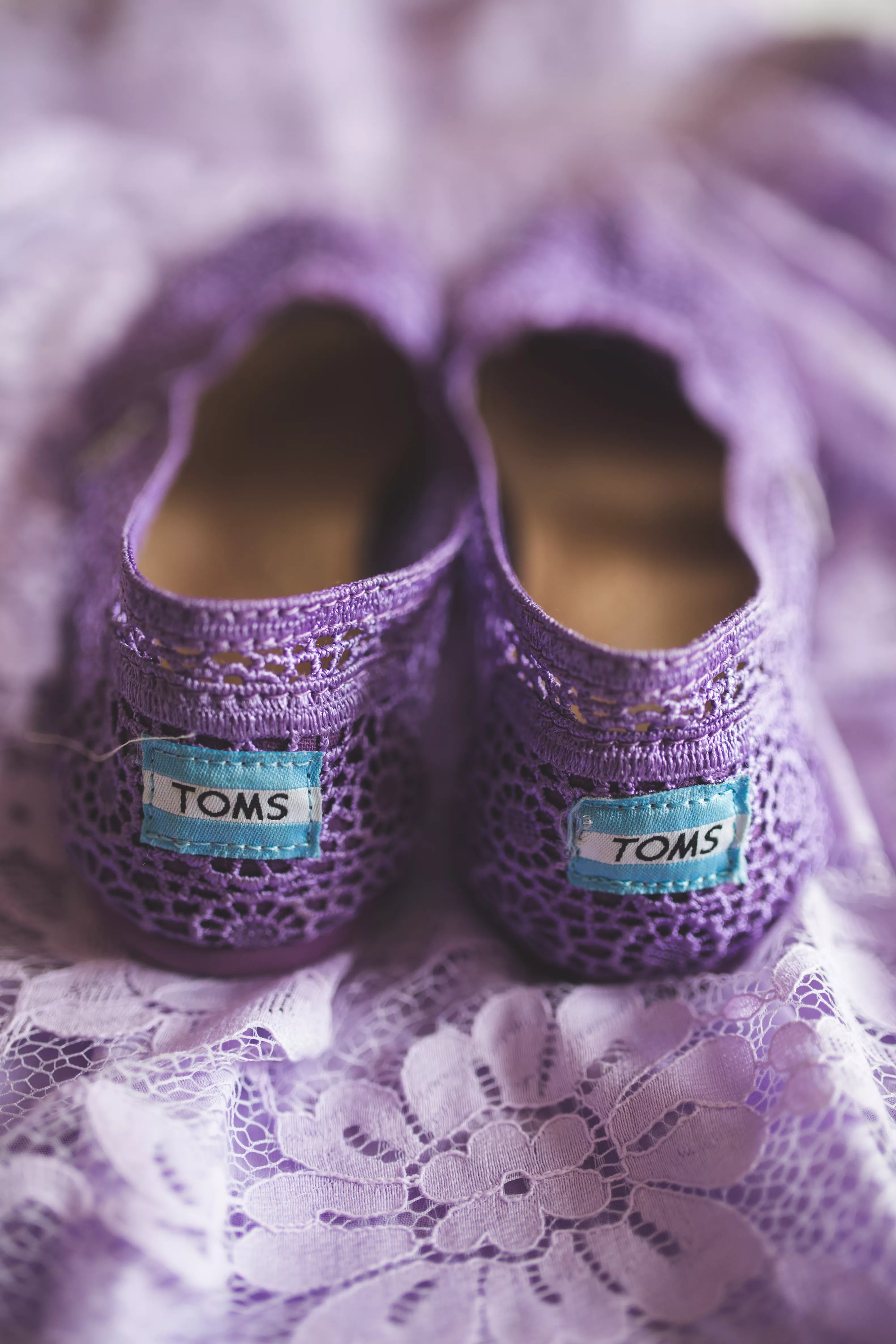 lace purple toms for a casual wedding by the lake photo toms wedding shoes