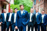 Navy Suits With Mint Green Ties