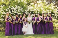 Alfred Sung Italian Plum Bridesmaid Dresses