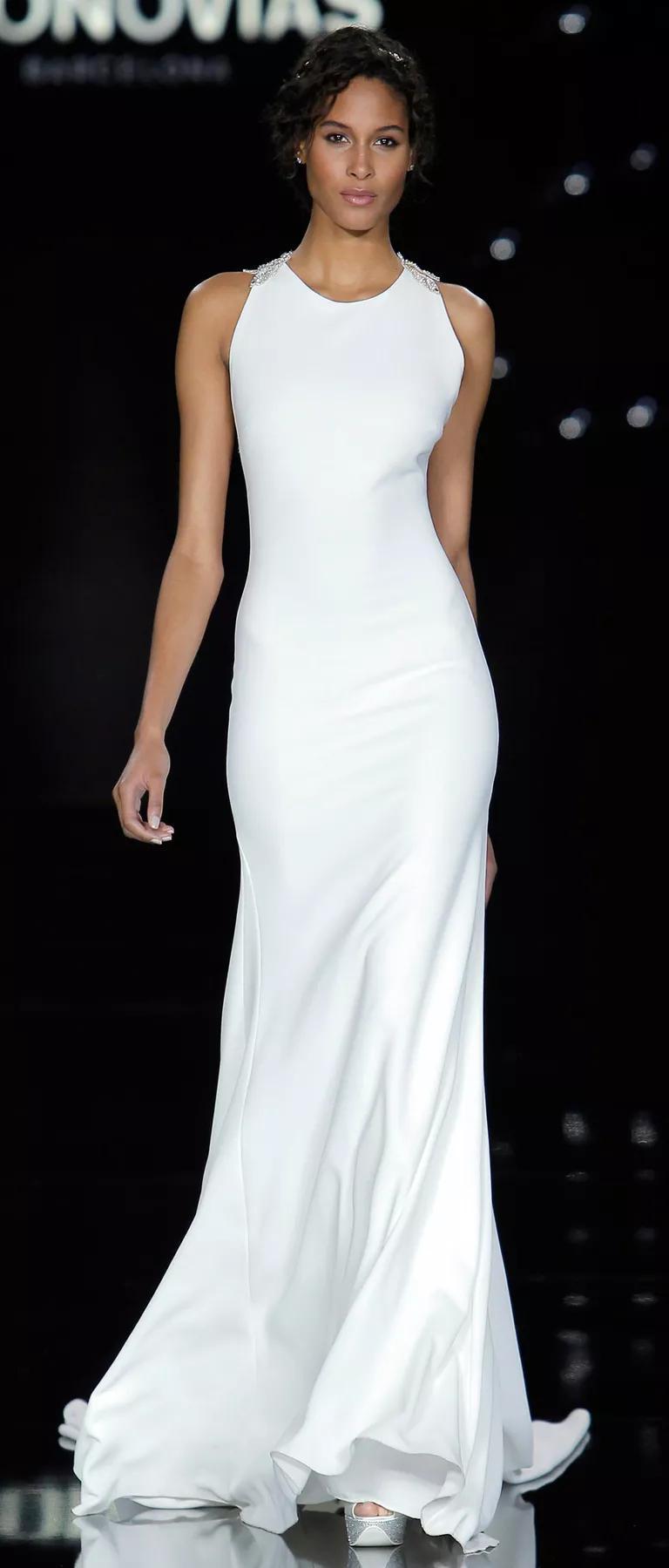 slinky sheath wedding dress courthouse wedding dresses Wedding Dresses Perfect For An Elopement