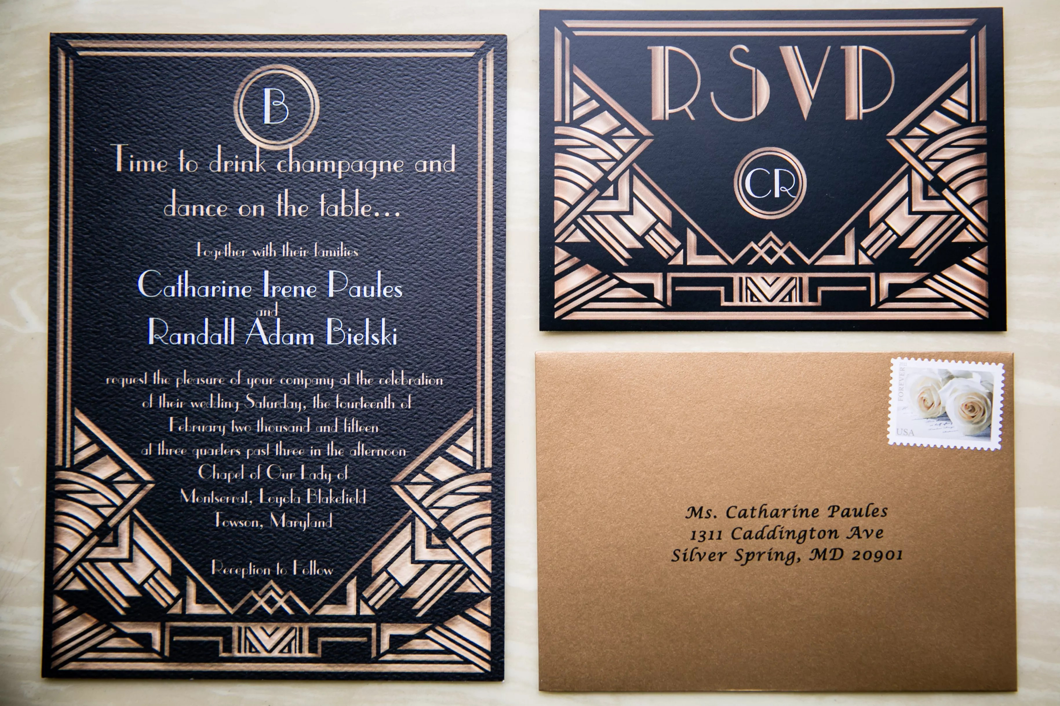 a great gatsby inspired wedding at the lord baltimore hotel in baltimore maryland album great gatsby wedding invitations C ddfd be0a e rs