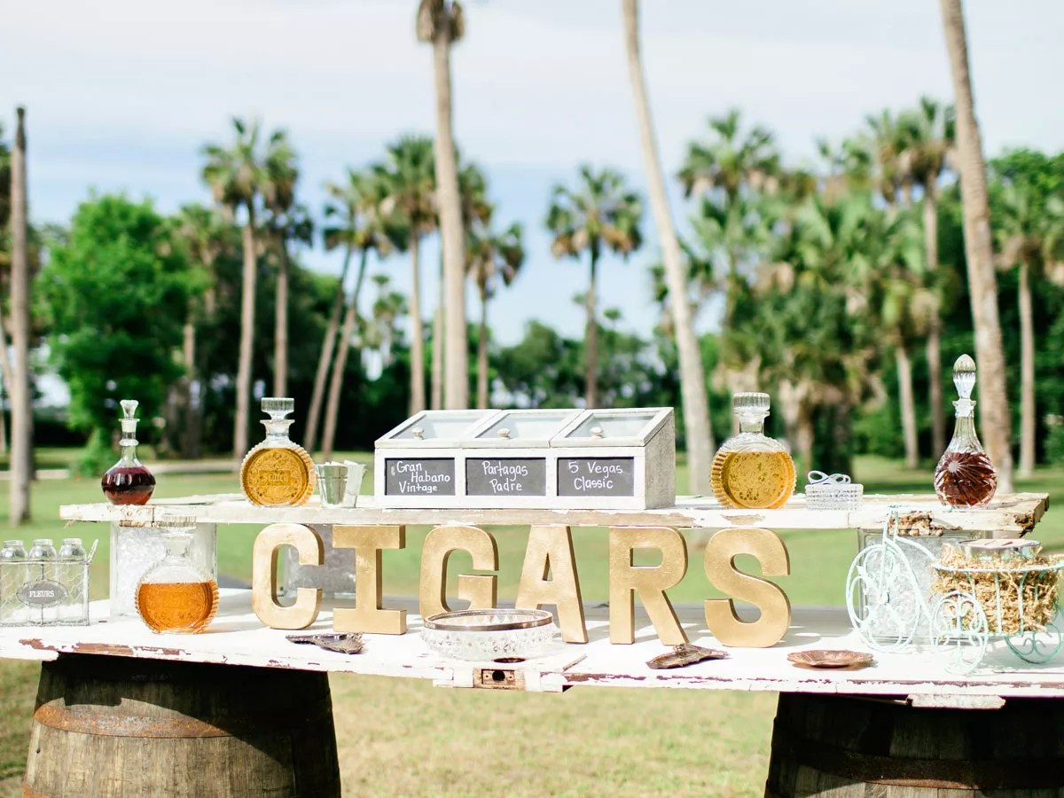 How To Have A Cigar Bar At Your Wedding