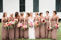 Mocha-Colored Bridesmaid Gowns