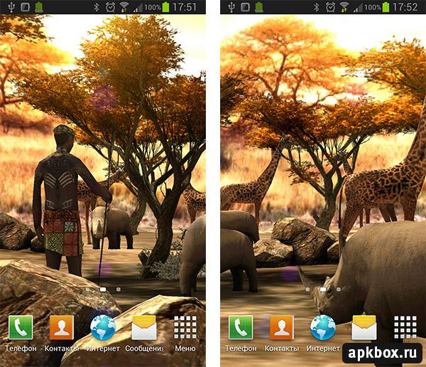 Falling Leaves Live Wallpaper Apk Africa 3d Обои с африканской природой 187 Скачать всё для