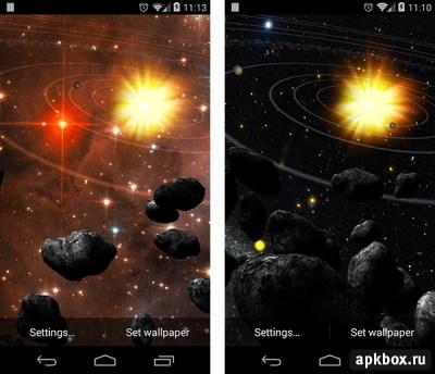 Asteroid Belt. Живые обои с астероидами для Android » Скачать всё для Андроид бесплатно | apkbox.ru