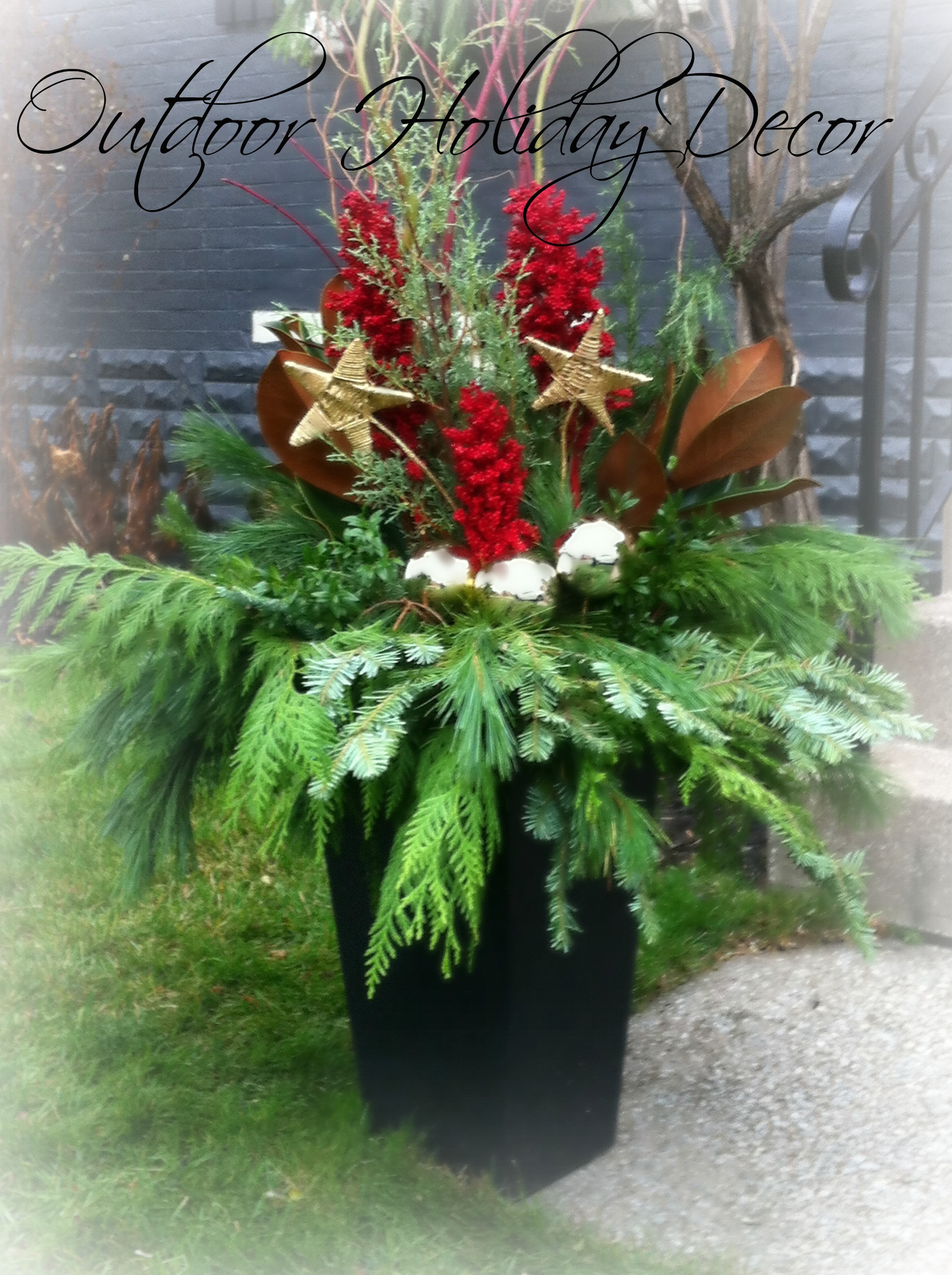 Outdoor Planters Near Me Outdoor Holiday Decor A Place For You And Me