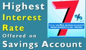 Highest Interest Rate Offered on Savings Account