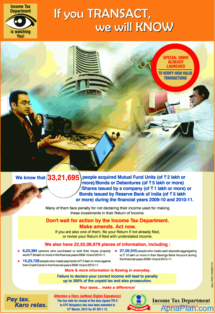 Income Tax Department Advertisement1