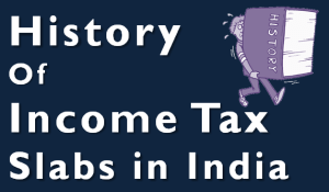 History of Income tax Slabs in India