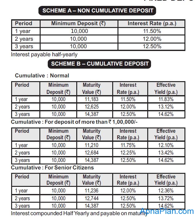 Birla Shloka Edutech Limited Fixed Deposit Interest