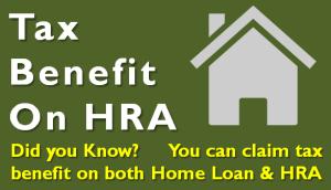 Tax Benefit on HRA - House Rent Allowance
