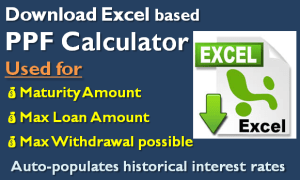 PPF Calculator in Excel