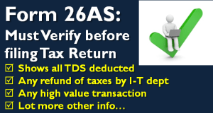 Form 26AS - Must Verify before filing Tax Return