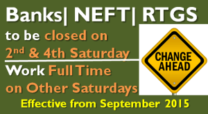 Banks | NEFT | RTGS to be closed on Second and Fourth Saturday