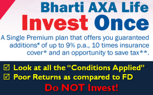 Bharti AXA Life Invest Once Plan - Review