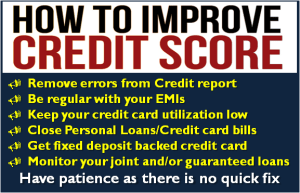 How to improve Credit Score?