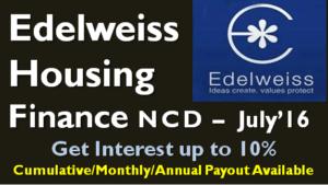 Edelweiss Housing Finance NCD - July 2016