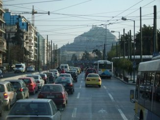 A street in Athens / Cars