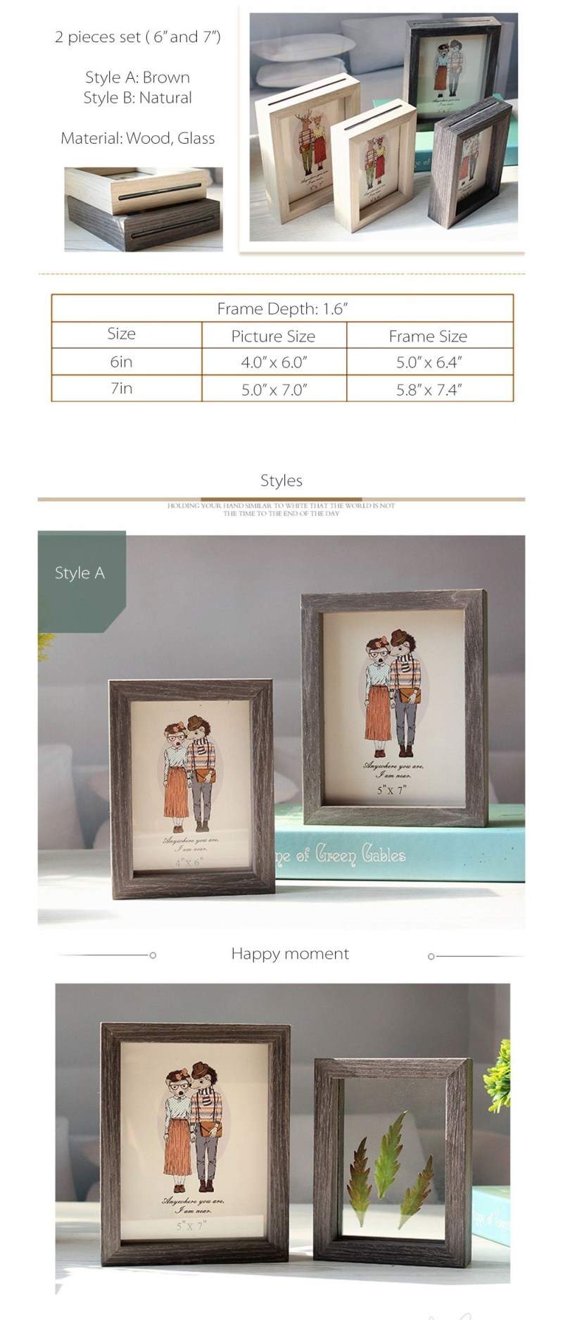 Large Of Double Sided Picture Frame