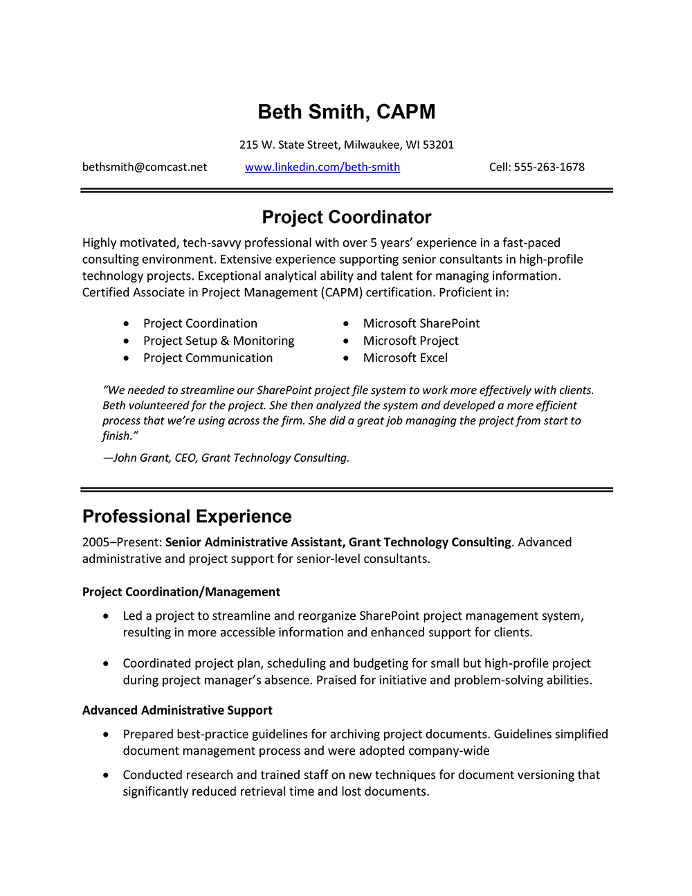 resume for veterinary assistant