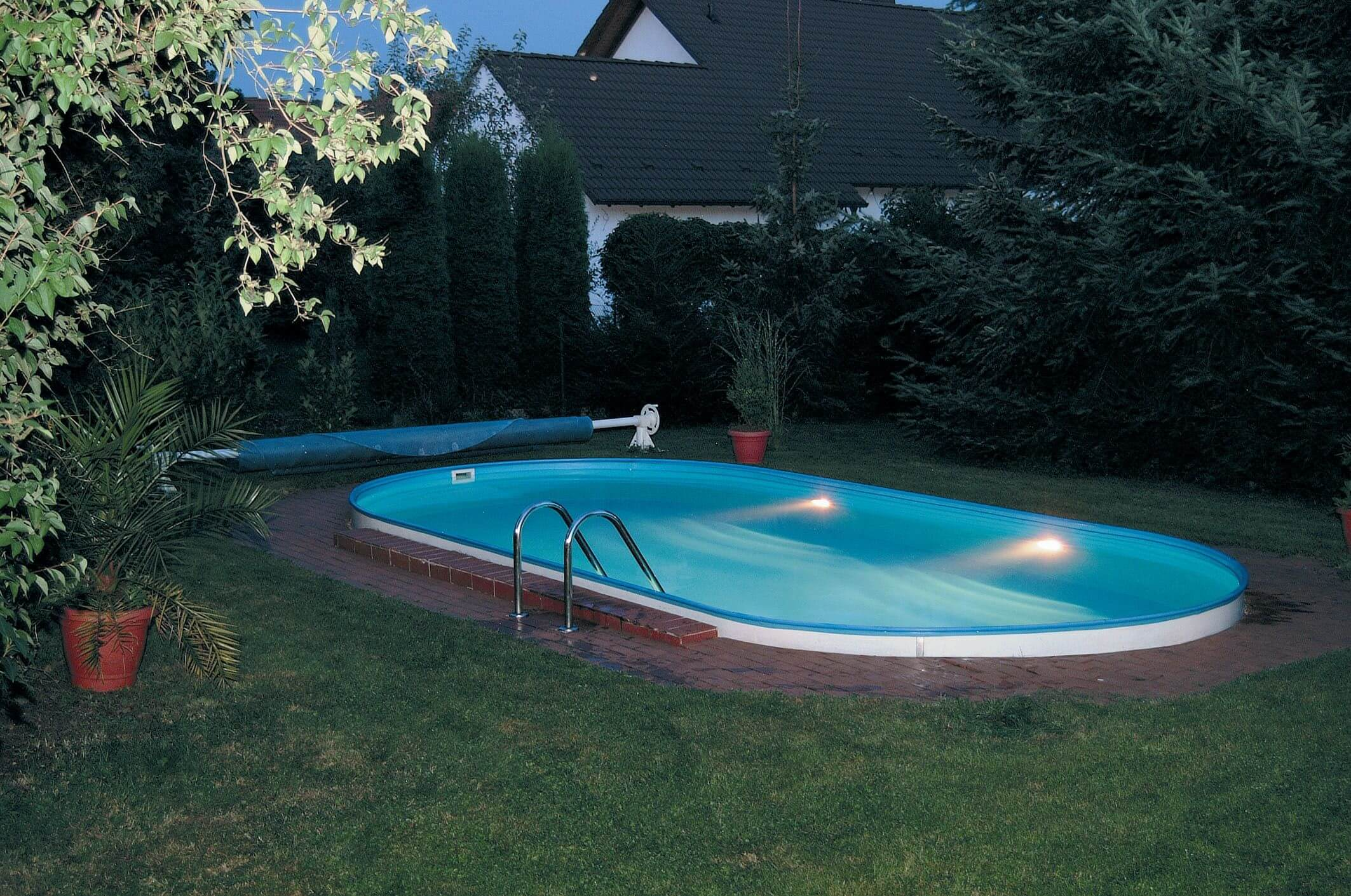 Bestway Pool Abdeckung Oval Einbaupool Oval Cheap Clear Pool Gre Gre With Einbaupool Oval