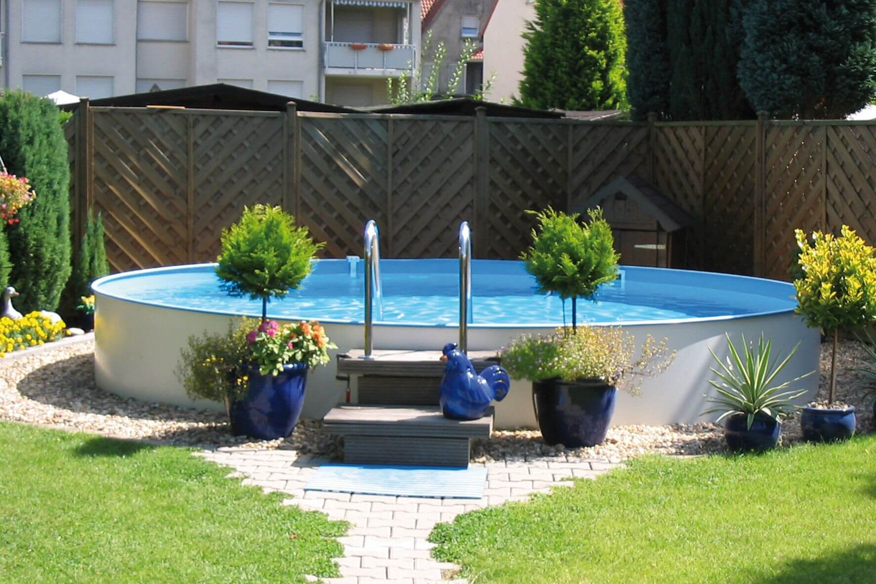Pool Rund Stahlwandbecken Apoolco Onlineshop Für Pool Wellness