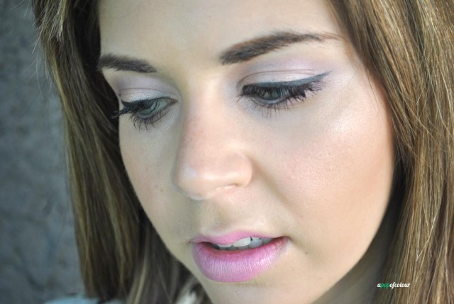 Lid: Crystal Pink.  Crease: Pink Lavender.  Colours from the Night Fall palette.
