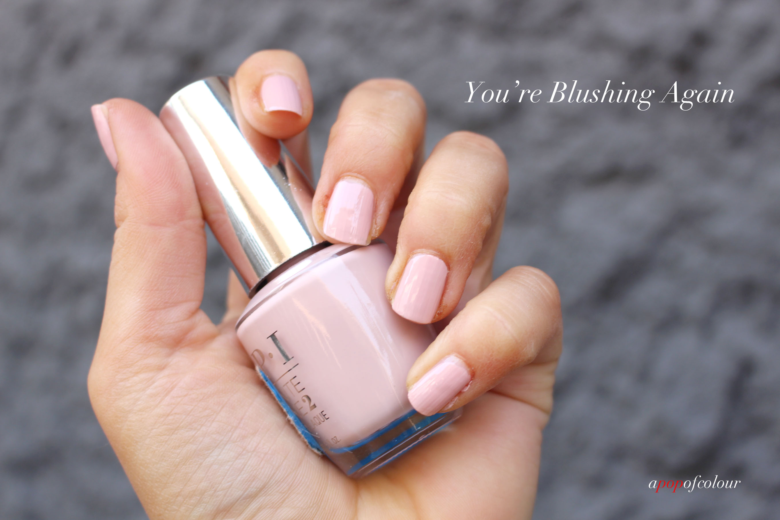 A sheer wash of colour: OPI Infinite Shine Soft Shades - A Pop of Colour