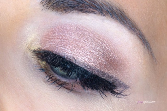 Make Up For Ever Star Lit Powders 13 and 02 applied to the eyes.