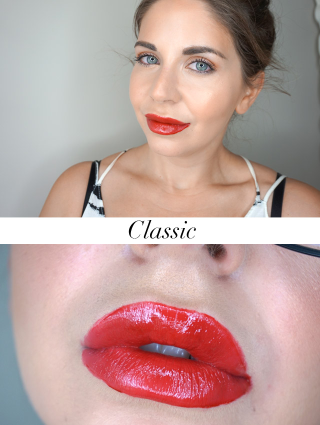 Swatch Maybelline Vivid Hot Lacquers lip gloss in Classic