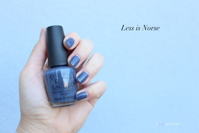 OPI Less is Norse swatch
