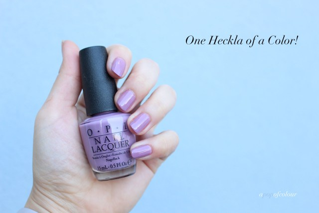 OPI One Heckla of a Colour swatch