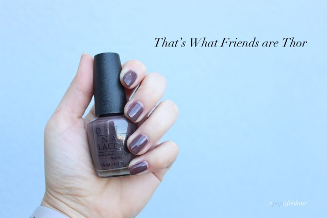 OPI That's What Friends are Thor swatch