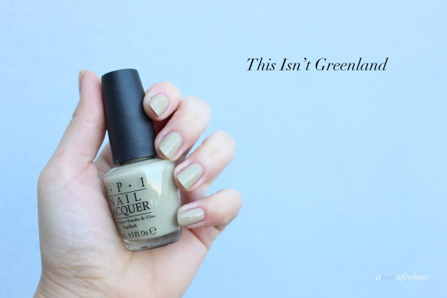 OPI This Isn't Greenland swatch