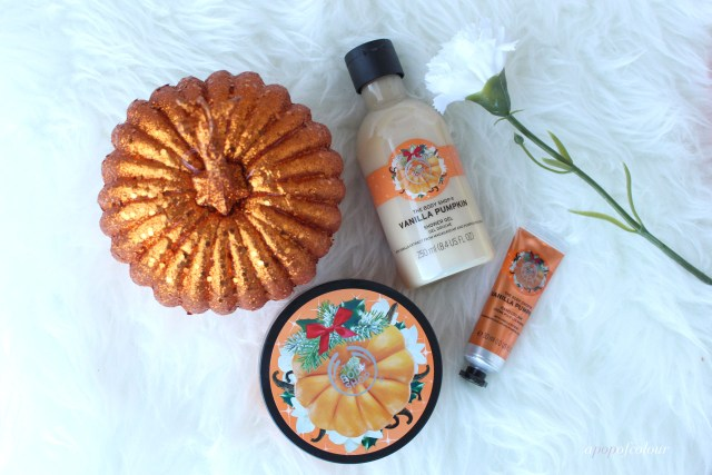 The Body Shop Vanilla Pumpkin line