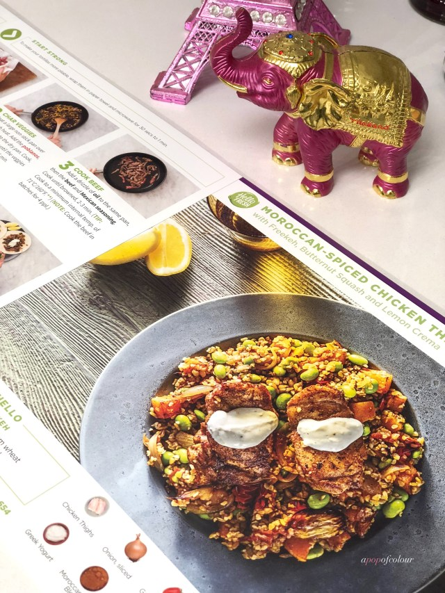 Moroccan Spiced Chicken dish from Hello Fresh