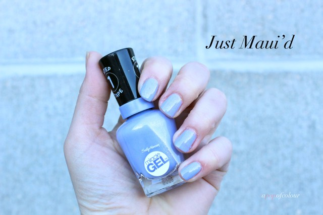 Sally Hansen Miracle Gel Pastel Punk collection, Just Maui'd swatched