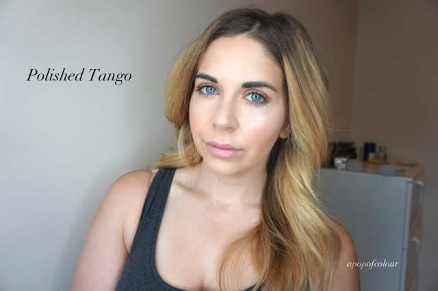 L'Oreal Paris Colour Riche Shine lipstick in Polished Tango swatched