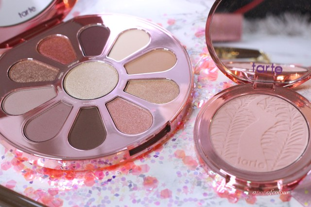 Tarte Cosmetics Love, Trust, and Fairy Dust Eyeshadow palette and blush