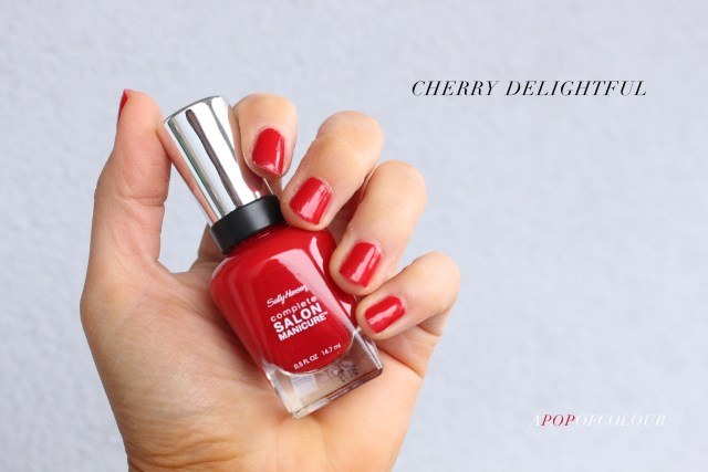 Sally Hansen Red/esign nail polishes in Cherry Delightful