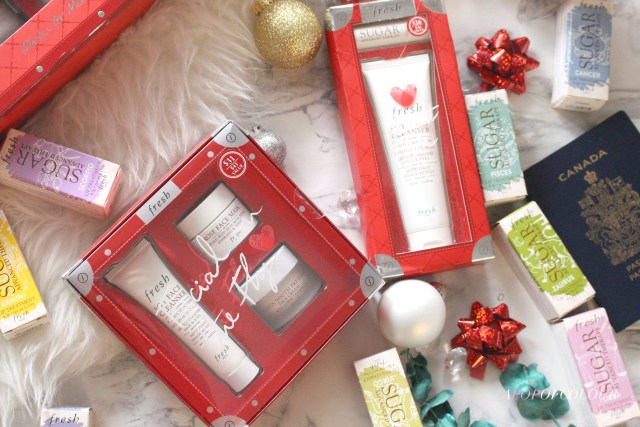 Fresh holiday sets, Facial on the Fly and Frequent Flyer set