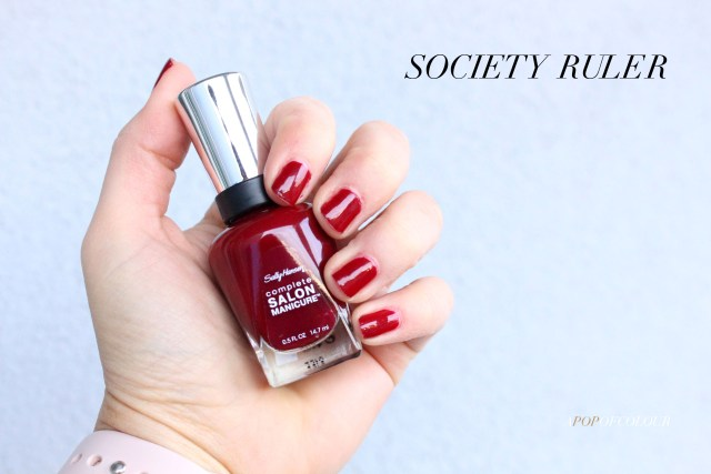 Sally Hansen Red/esign nail polishes swatch in Society Ruler