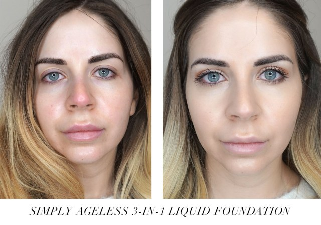 CoverGirl + Olay Simply Ageless 3-in-1 Foundation swatches