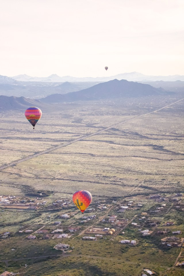 Hot air balloon ride with Hot Air Expeditions