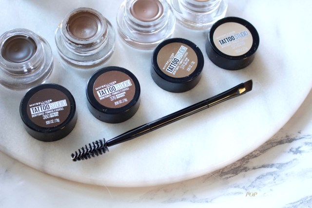 Maybelline Tattoo Studio Brow Pomade shades and brush
