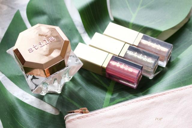 Stila Lingerie Soufflé Skin Perfecting Primer and Glitter & Glow liquid eyeshadows