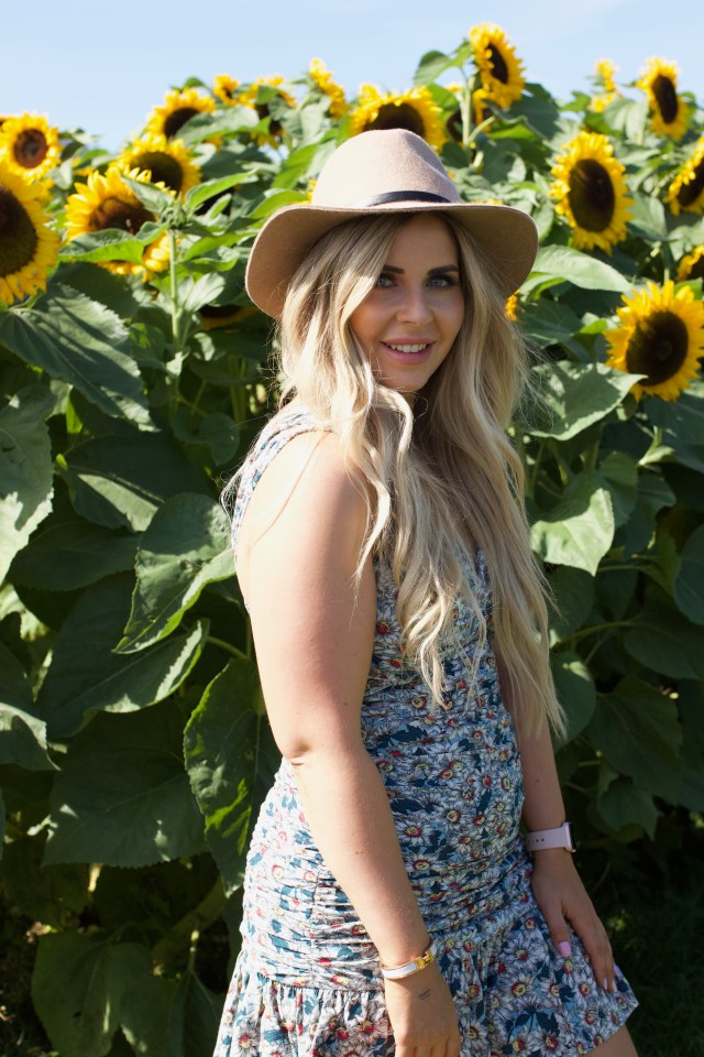 Standing in sunflower field in Abbotsford BC