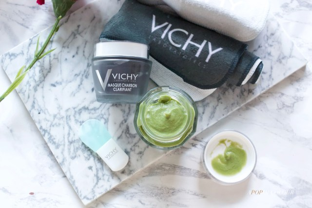 Vichy Soothing Aloe Vera Face Mask and Purete Thermale Charcoal Mask
